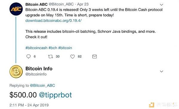 """神秘比特币""""老炮儿""""在推特送出1万美元BCH"""