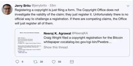 网绿澳本聪:拿下比特币白皮书和代码版权,方便拉盘?
