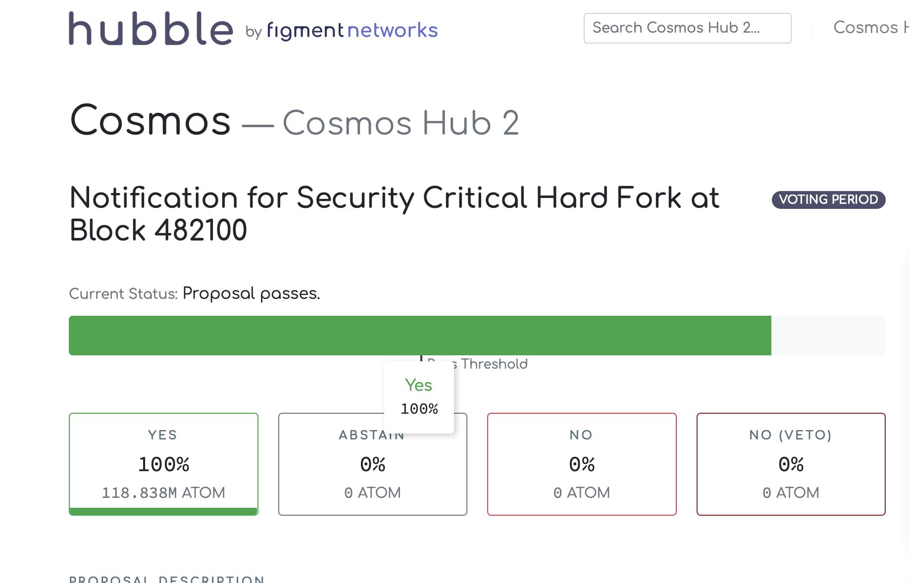 Cosmos曝出高危漏洞,将在区块高度482100进行硬分叉升级