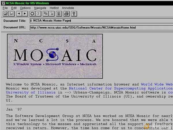 史上第一代图形浏览器往事
