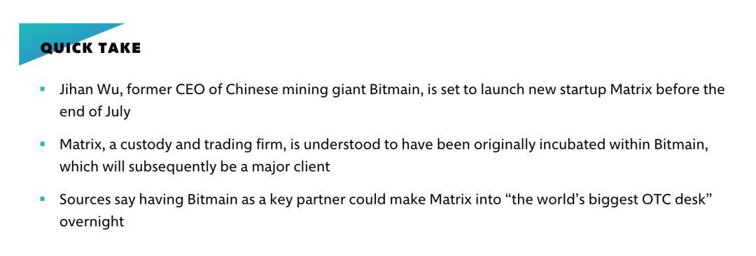 推特精选:Facebook加密项目本月面世;吴忌寒7月底前推出新公司Matrix