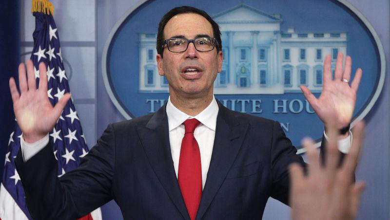 美财长Mnuchin:我个人不会在10年内购买比特币