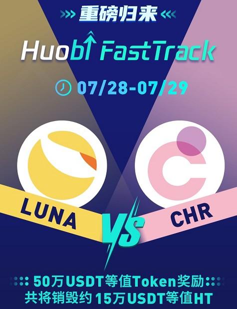 火币开启第11期FastTrack,投票上币项目为CHR 和LUNA