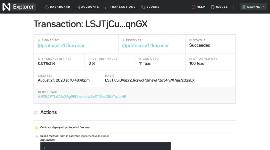 Flux主网发布,成为首个在NEAR发布的DeFi协议
